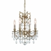 Gramercy Five Light Clear Crystal Brass Mini Chandelier I
