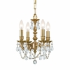 Gramercy Four Light Clear Crystal Brass Mini Chandelier I