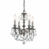 Gramercy Four Light Clear Crystal Pewter Mini Chandelier I