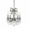 Gramercy Four Light Clear Crystal Pewter Mini Chandelier II