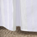 Grande Stripe Orchid Crib Skirt