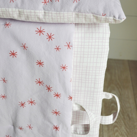 Graph & Stars Pink Play Blanket