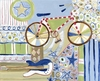 Graphic Bicycle Canvas Reproduction
