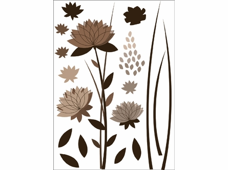 Graphic Flower Design Wall Decals
