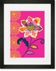 Graphic Flower on Pink Framed Art Print