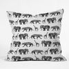 Graphic Zoo Throw Pillow