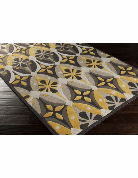 Gray and Citrine Mamba Rug