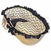 Gray and Lime Chevron Moses Basket