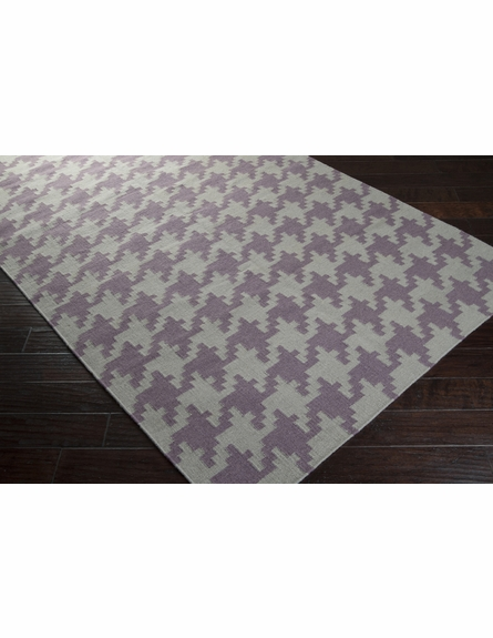 Gray and Mauve Houndstooth Frontier Rug