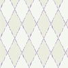 Gray and Purple Ribbon Harlequin Wallpaper