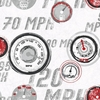 Gray and Red Race Car Guages Wallpaper