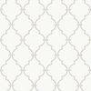 Gray and White Modern Trellis Wallpaper