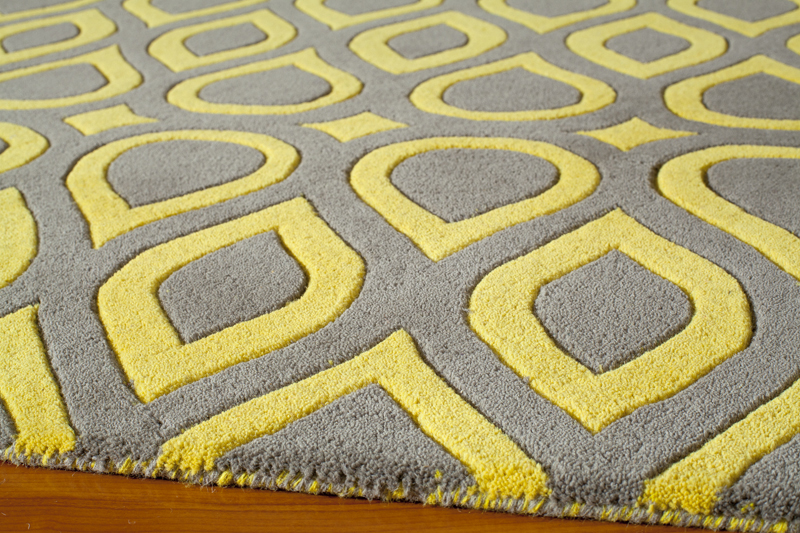 Gray And Yellow Geometric Delhi Rug Rosenberryrooms Com