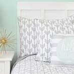 Gray Arrow Pillow Sham