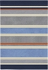 Gray Blue Stripes Rug