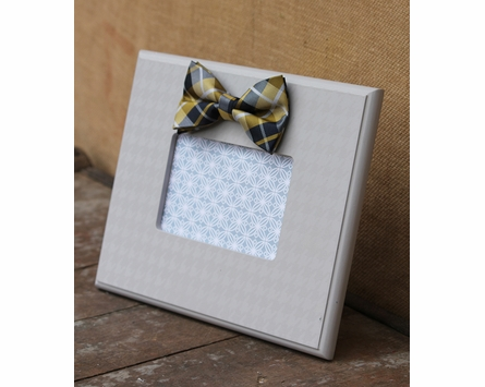 Gray Bow Tie Houndstooth Picture Frame