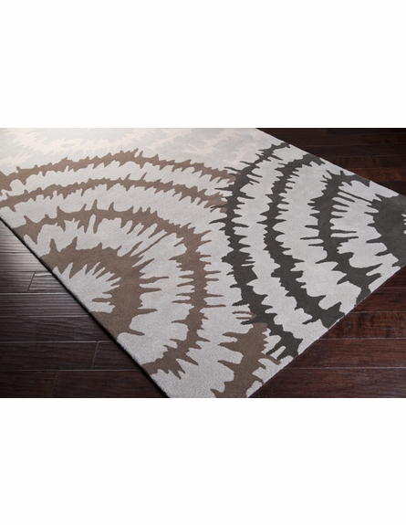 Gray Burst Harlequin Rug