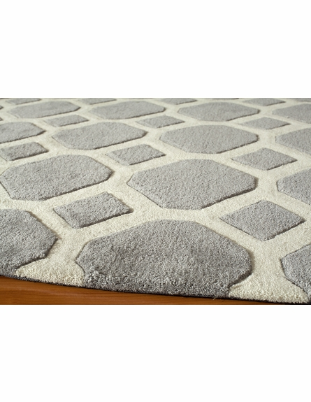 Gray Circles Bliss Rug