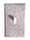 Gray Gears Light Switch Plate Cover