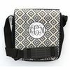 Gray Ikat Diamond Monogram Sling Bag