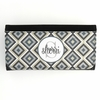 Gray Ikat Diamond Monogram Wallet