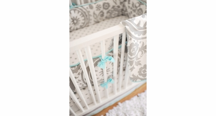 Gray on White Polka Dot Crib Sheet