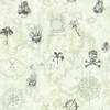 On Sale Gray Pirate Map Wallpaper