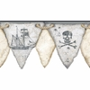 Gray Pirates Pennant Border