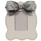 Gray Scalloped Picture Frame