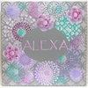 Gray Square Kaleidoscope Hand Painted Canvas Wall Art