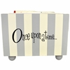 Gray Stripe Wooden Bookholder