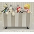 Gray Stripe Wooden Toy Crate
