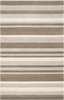 Gray Striped Madison Square Rug