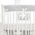 Gray Swiss Cross Crib Rail Cover