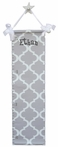 Gray Trellis Growth Chart