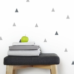 Gray Triangle Wall Decals