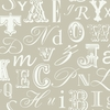 Gray Word Play Alphabet Wallpaper