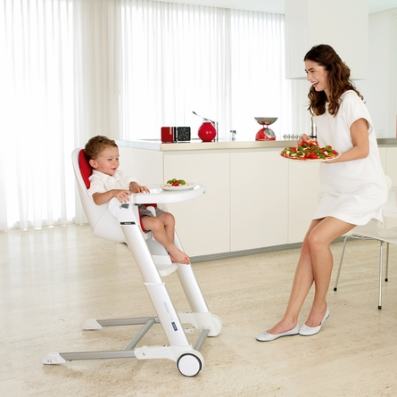 Gray Zuma Highchair - Red