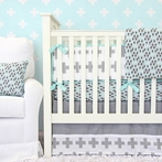 Grayson's Gray Crib Bedding Set