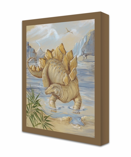 Grazing Stegosaurus Canvas Reproduction