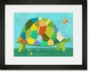 Grazing Tortoise Framed Art Print