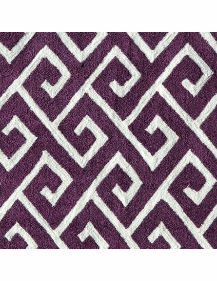 Greek Aubergine Rug
