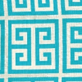 Greek Key Aqua - Print Fabric