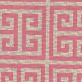 Greek Key Pink - Print Fabric