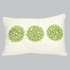 Green 3 Dahlias Pillow