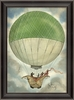 Green And White Hot Air Balloon Framed Wall Art