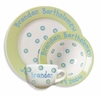 Green Baby Dot Ceramic Dish Set