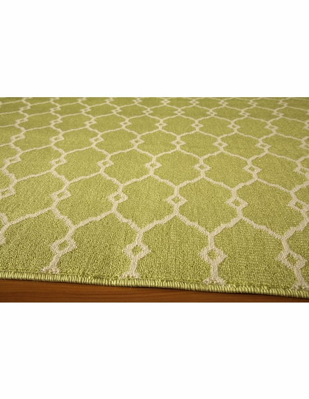 Green Baja Lattice Rug