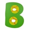 Green Baseball Wall Letter - B