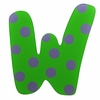 Green & Blue Polka Dot Wall Letter - W